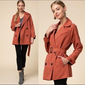 Entro Rust Double Breasted Jacket